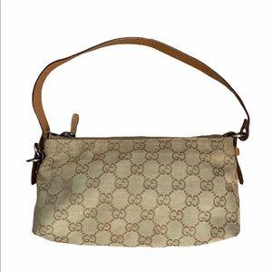 Gucci VTG Guccissima Canvas Light Brown Bag